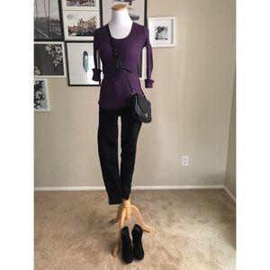Women's purple body central sweater
